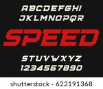 speed geometric decorative font ... | Shutterstock .eps vector #622191368