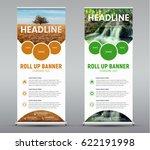 template vertical roll up... | Shutterstock .eps vector #622191998