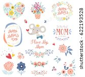 mother's day collection with... | Shutterstock .eps vector #622193528
