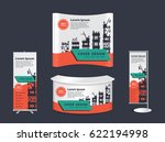 trade show booth mock up...   Shutterstock .eps vector #622194998