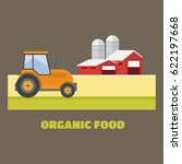 organic products. agriculture... | Shutterstock . vector #622197668