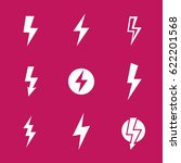 lightning bolts  warning vector ... | Shutterstock .eps vector #622201568