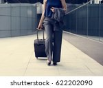 businesswoman traveler journey... | Shutterstock . vector #622202090