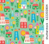 vector seamless pattern with... | Shutterstock .eps vector #622202804