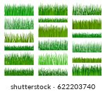 vector green grass. grass... | Shutterstock .eps vector #622203740