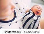 newborn baby sleep first days... | Shutterstock . vector #622203848