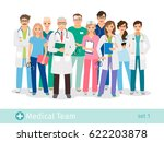 hospital team isolated on white ... | Shutterstock .eps vector #622203878