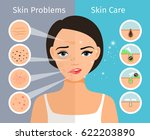 home facial skin clean and oily ... | Shutterstock .eps vector #622203890
