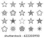 linear stars vector set.... | Shutterstock .eps vector #622203950