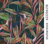 leaves seamless pattern.... | Shutterstock . vector #622206158
