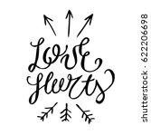 love hurts postcard. hand drawn ... | Shutterstock .eps vector #622206698