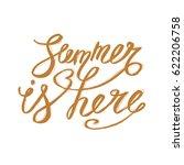 summer lettering design   hand... | Shutterstock .eps vector #622206758