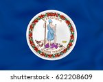 virginia waving flag. virginia... | Shutterstock .eps vector #622208609