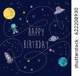 happy birthday greeting card... | Shutterstock .eps vector #622208930