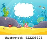 sea background. vector... | Shutterstock .eps vector #622209326