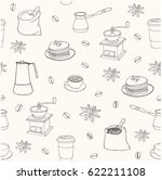 vector seamless pattern. hand... | Shutterstock .eps vector #622211108