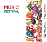 colorful music background.... | Shutterstock .eps vector #622214504