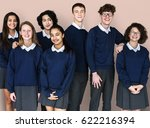 group of diverse students... | Shutterstock . vector #622216394
