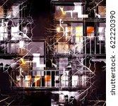 watercolor  ink  digital. city... | Shutterstock . vector #622220390