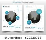 blue circle annual report... | Shutterstock .eps vector #622220798