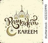 ramadan kareem hand drawn... | Shutterstock .eps vector #622223990