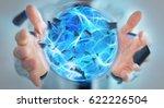 businessman creating an... | Shutterstock . vector #622226504