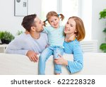 happy family mother  father ... | Shutterstock . vector #622228328