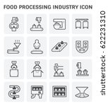 food processing industry and... | Shutterstock .eps vector #622231310