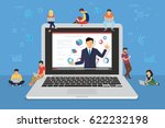business seminar speaker... | Shutterstock . vector #622232198