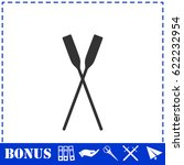 paddle icon flat. simple... | Shutterstock . vector #622232954