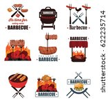 barbecue icons | Shutterstock .eps vector #622235714