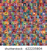 people avatar   with full body... | Shutterstock .eps vector #622235804