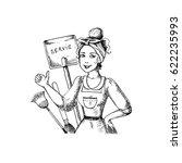 vector illustration on the... | Shutterstock .eps vector #622235993