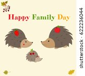 family day greeting card with... | Shutterstock .eps vector #622236044