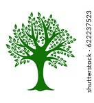 green tree on white background... | Shutterstock .eps vector #622237523