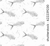 seamless pattern with fish... | Shutterstock .eps vector #622239230