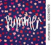 summer lettering design. rustic ... | Shutterstock .eps vector #622240070