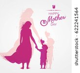 happy mother s day flyer ... | Shutterstock .eps vector #622241564