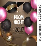 prom night background with air... | Shutterstock .eps vector #622242860
