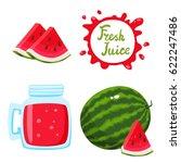 vector set of natural fresh... | Shutterstock .eps vector #622247486
