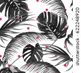 tropical seamless vector floral ... | Shutterstock .eps vector #622248920
