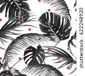 tropical seamless vector floral ... | Shutterstock .eps vector #622248920
