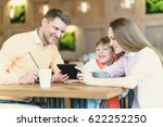 smiling family and children... | Shutterstock . vector #622252250