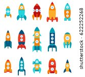 vector illustration  set of 15... | Shutterstock .eps vector #622252268