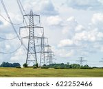 electricity pylons going into... | Shutterstock . vector #622252466