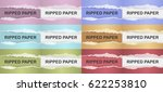 realistic ripped paper with... | Shutterstock .eps vector #622253810