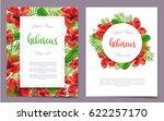 vertical summer colorful...   Shutterstock .eps vector #622257170
