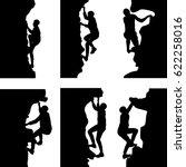black set silhouette rock... | Shutterstock .eps vector #622258016