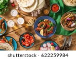 dinner party food concept.... | Shutterstock . vector #622259984