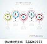 vector infographics timeline... | Shutterstock .eps vector #622260986